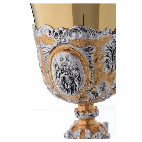 Calice fusione ottone bicolore argento 925/00 Passione s4