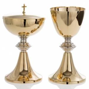 Calici Pissidi Patene metallo: Calice e pisside in stile classico ottone