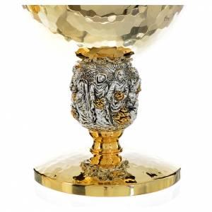 Calice e pisside ottone martellato argento Miracoli s3