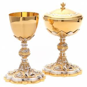 Calici Pissidi Patene metallo: Calice e pisside ottone Pietà