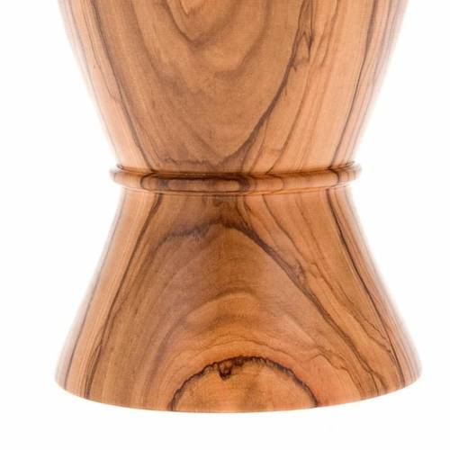 Calice olivo bordo risvoltato incisione pellicano diam 9 cm s5