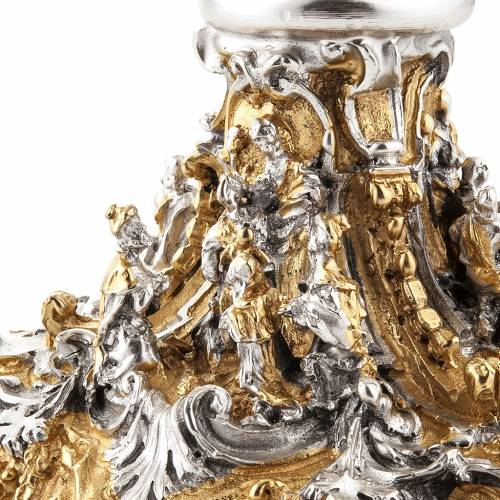 Cáliz plata y Copón dorado y plateado natividad s20