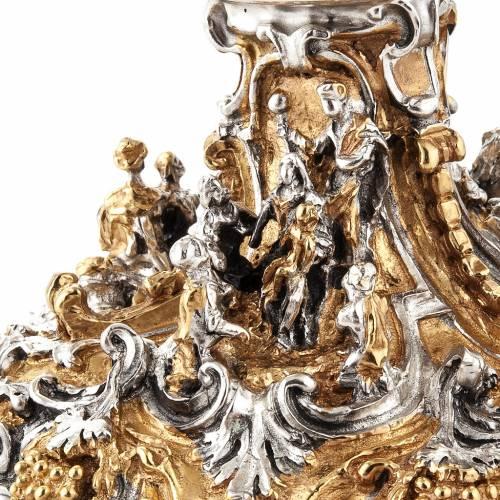 Cáliz plata y Copón dorado y plateado natividad s8