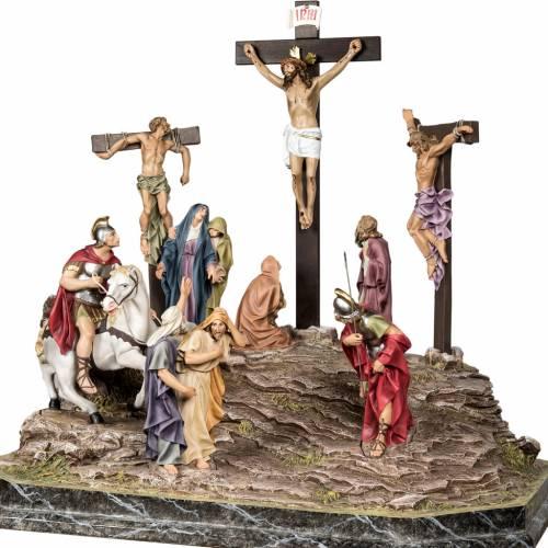 Calvario scena statue di 30 cm dec. elegante s10