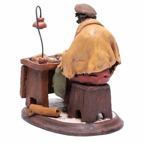 Calzolaio presepe Deruta 30 cm in terracotta s3