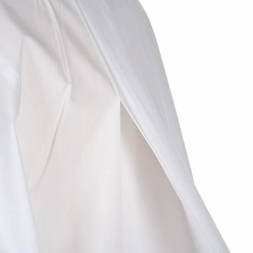 Camice bianco cotone decori bianchi s6