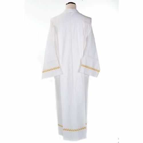 Camice bianco cotone decori dorati s2