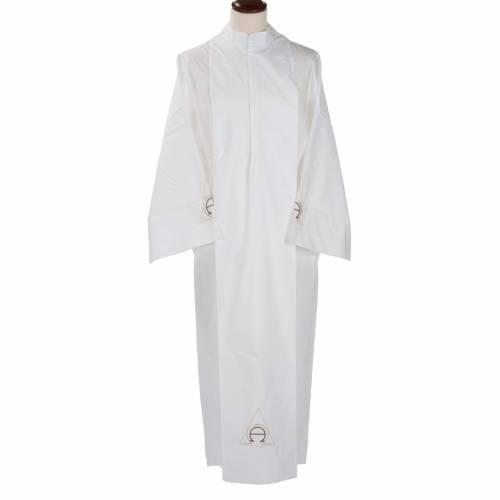 Camice bianco lana alfa e omega s1