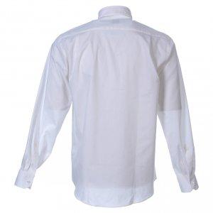 Camisas Clergyman: Camisa m. larga popelina blanca