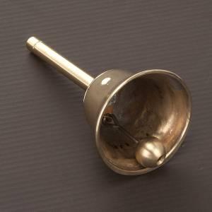 Campanello liturgico a un suono con manico dorato s3