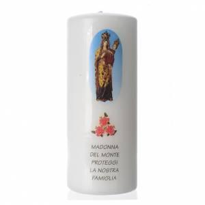 Candela Madonna del Monte 15x6 cm bianco s1
