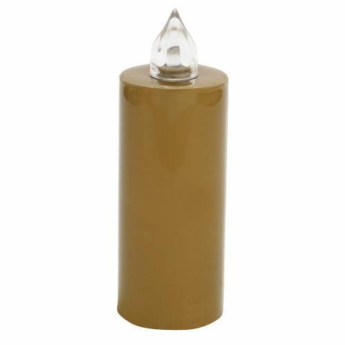 Candela votiva Lumada usa e getta oro luce interm. con batteria s1