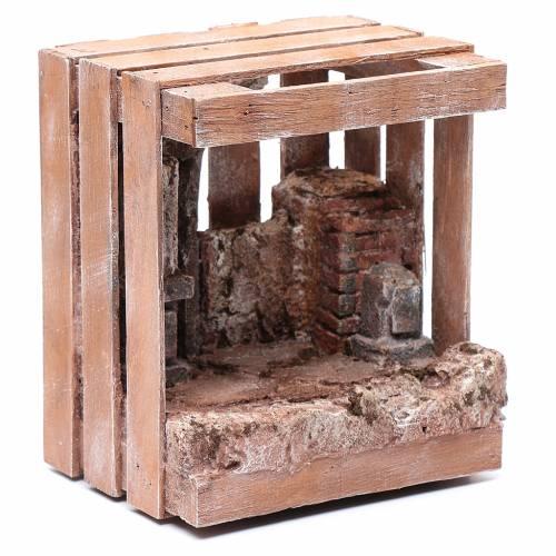 Capanna per presepe in legno 20x15x15 cm s3