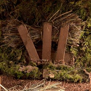 Capanna presepe vuota tetto doppio e fascine 43X24X25 s4