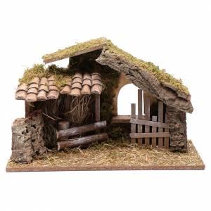 Ambientazioni, botteghe, case, pozzi: Capanna vuota con steccato 25x40x20 cm