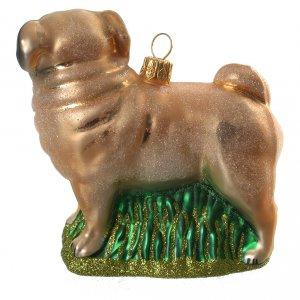 Adornos de vidrio soplado para Árbol de Navidad: Carlino Perro adorno vidrio soplado Árbol de Navidad
