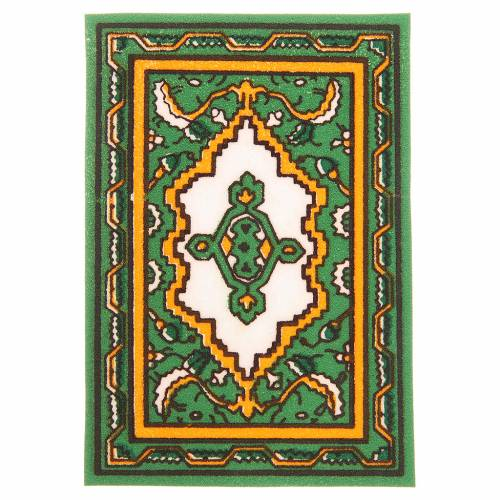 Carpet for nativities in green fabric, 7x10.5cm s1