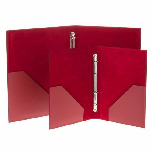 Carpeta portaritos de piel roja s5