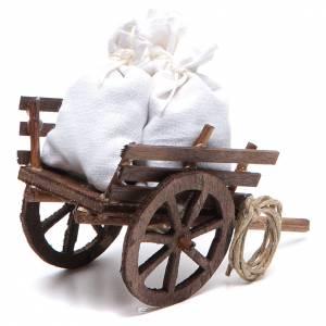 Carretto con sacchi presepe napoletano 7x10x4 cm s2