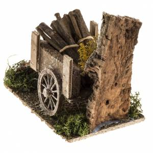 Ambientazioni, botteghe, case, pozzi: Carretto di legname con ambiente