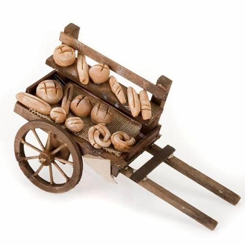 Carretto legno pane terracotta presepe s1