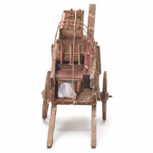 Cart Neapolitan Nativity Scene 12x20x8cm s4