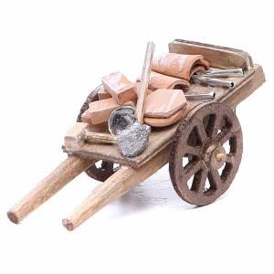 Cart of the builder for Neapolitan Nativity, measuring 6x11x5cm s1