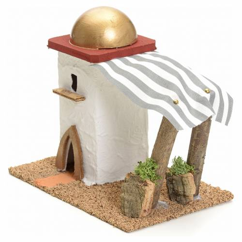 Casa araba singola con tenda h 14 cm s2