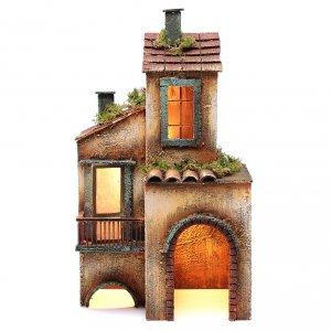 Belén napolitano: Casa de madera para belén napolitano 41x25x16 cm