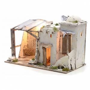 Casa palestina iluminada para Pesebre Napolitano 10 cm s3