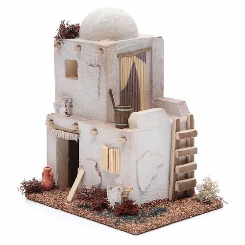 Casa stile arabo due piani in polistirene cm 20x15xh20 s2