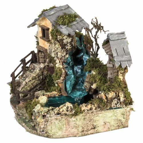 Cascada entre las casas: ambientación pesebre s6