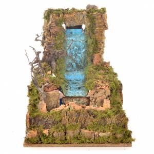 Cascade voile avec ruisseau et pompe 60x34 cm s3