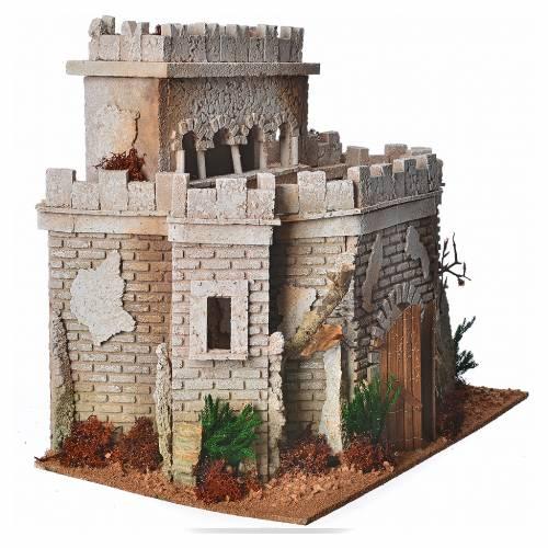 Castello arabo per presepe in sughero s7