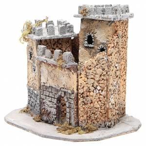 Castello presepe napoletano in sughero 20x22x20 cm s2