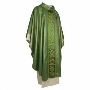Casule: Casula con fiori e piante lana pura lana vergine e lurex