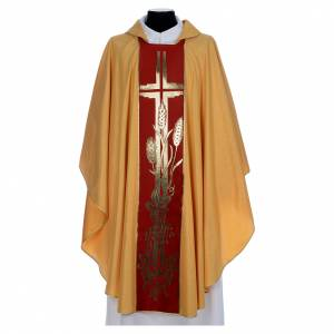 Casula dorata tessuto oro faille di mezza lana s1