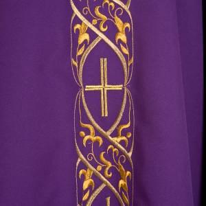 Casula liturgica con ricamo IHS s5