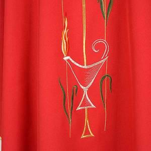 Casula liturgica croce uva lampada, con stola s5