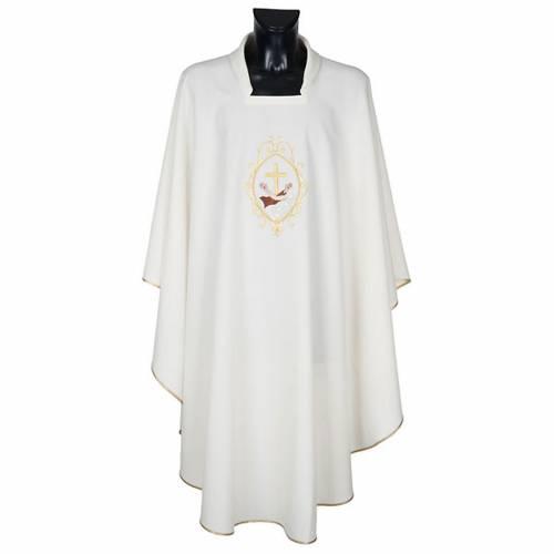 Casula liturgica e Stola stemma francescano s6