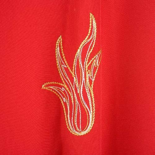 Casula rossa Spirito Santo e fiamme s4