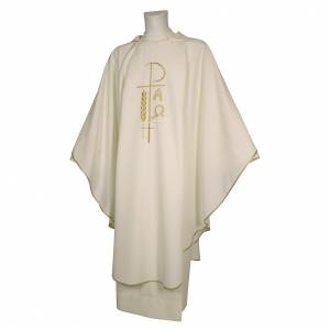 Casule: Casula sacerdotale 100% poliestere croce spighe alfa