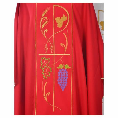 Casula sacerdotale 100% poliestere spighe uva s3