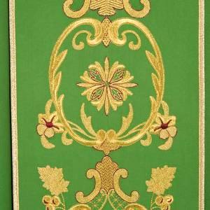Casula sacerdotale fiori spighe dorate 100% lana s7