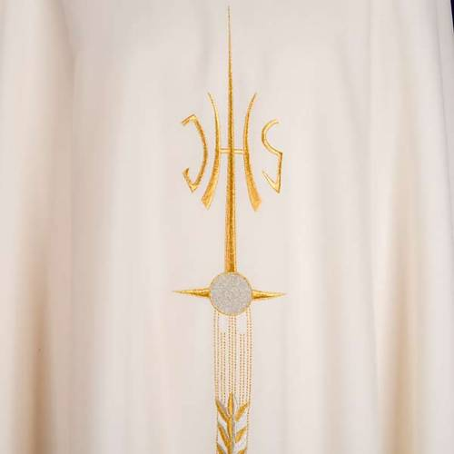 Casula sacerdotale IHS spiga calice uva s5