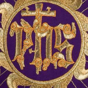 Casulla litúrgica con estola, sol y cruz s3