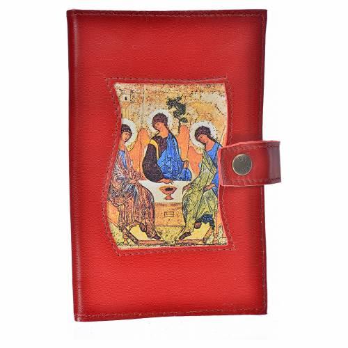 Catholic Bible cover burgundy leather Holy Trinity s1