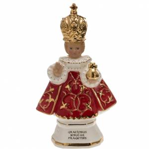 Statues in porcelain and fireclay: Ceramic statue, Baby Jesus of Prague 16cm