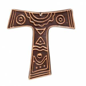 Tau crosses: Ceramic Tau cross