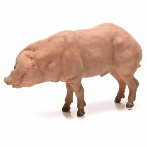 Cerdo Belén 18 cm Angela Tripi terracota s2